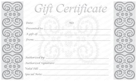 make your own gift voucher template templates for editable