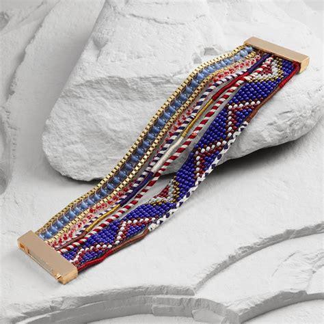 multi strand gold and blue multi strand clasp bracelet world market