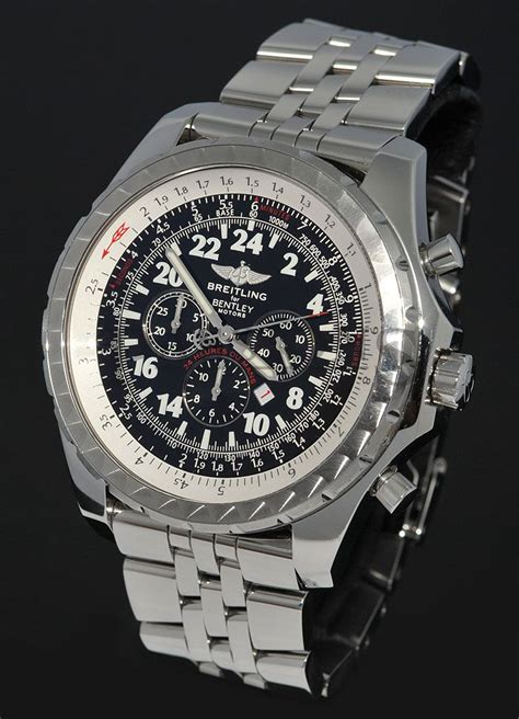 breitling bentley back breitling for bentley motors stainless steel back