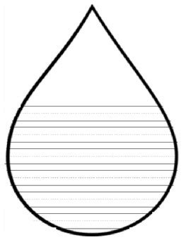 raindrop writing template clipart best