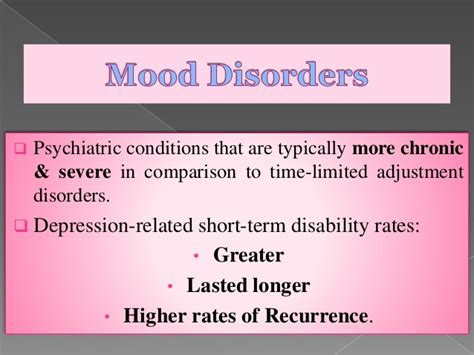 cyclical mood swings psychiatric syndromes common to the workplace