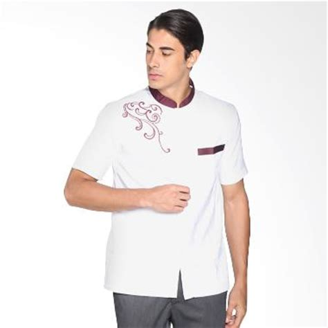 Arafah Yutaka White Koko Arafah jual busana baju muslim pria baju koko harga murah