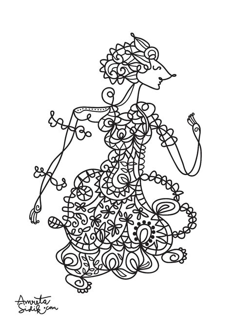 Anti Stress Batik Coloring Book For Adults 1 javanese doll 2 amreta sidik coloring pages for adults justcolor