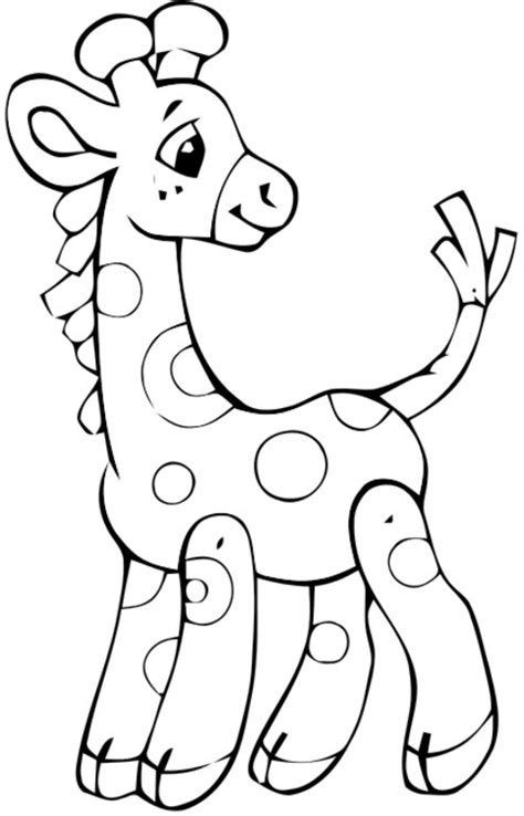coloring sheets baby giraffe