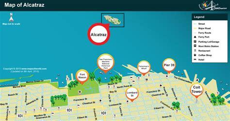 san francisco islands map where is alcatraz island located in san francisco