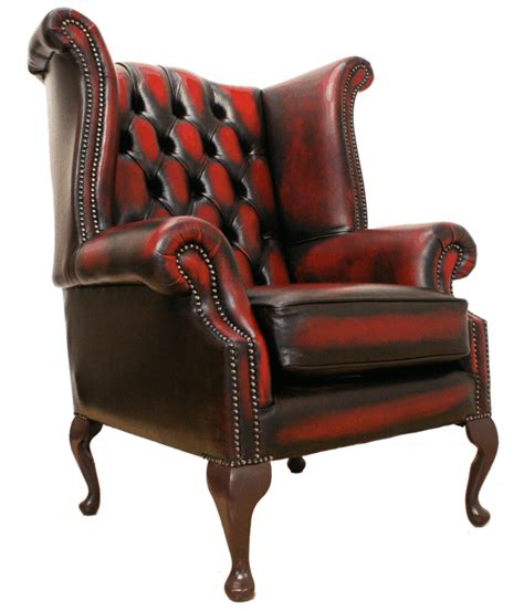 Ebay Leather Armchair by Chesterfield High Back Fireside Wing Chair