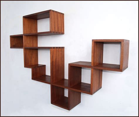 wonderful floating abstract bookshelf design inspiration