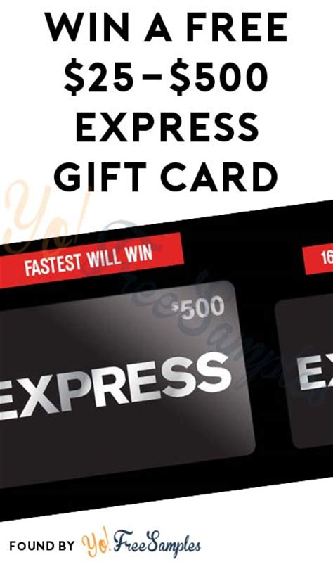 Where To Get Express Gift Cards - live at 10 30am est win a free 25 500 express gift card mobile number required