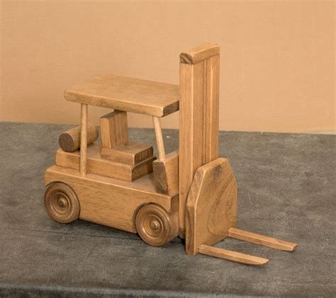 wooden truck details about wood forklift toy truck play display nice