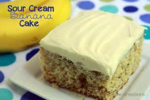 cake recipe banana cake with sour cream recipe