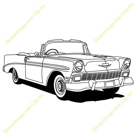 classic cars clip 1957 chevy bel air drawings sketch coloring page