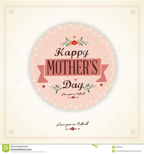 imagenes vintage dia de la madre tarjeta feliz del d 237 a de madres del vintage ilustraci 243 n