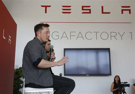 elon musk factory tesla ceo musk predicts battery production by end of 16