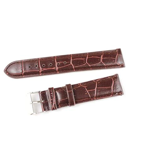 tali kulit jam tangan bamboo grain watchband leather 20mm brown jakartanotebook