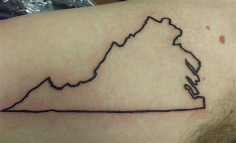 state outline tattoo best solutions of virginia state outline imgur