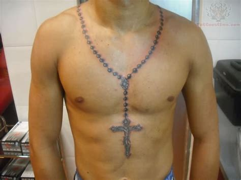 cross tattoo on chest price rosary cross tattoo on chest jpg 720 215 540 awesome tats