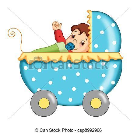 clipart bambino passeggino bambino colorato illustrazione passeggino