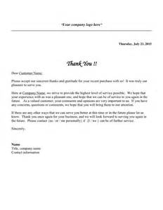 Thank You Letter To Customers For Service Customer Thank You Letter In Word And Pdf Formats