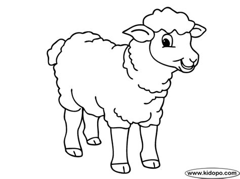 Cute Sheep Coloring Page Sheep Colouring Page