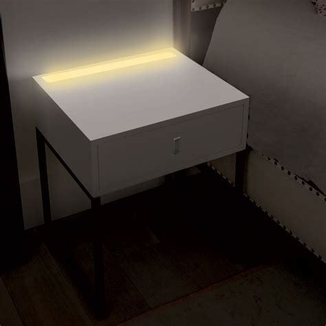 Led Bedroom Table Ls by Illuminate Bedside Table With Led Light In White Buy