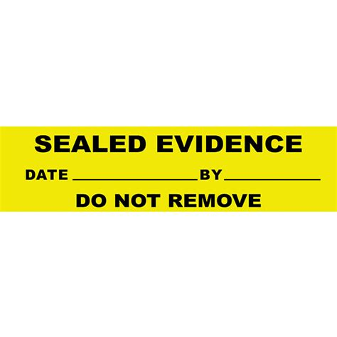 printable evidence labels edidence seals yellow 250 pcs welcome by loci