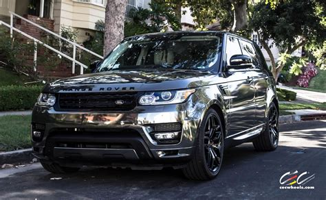 black chrome range rover 2015 cec wheels tuning cars suv range rover sport chrome