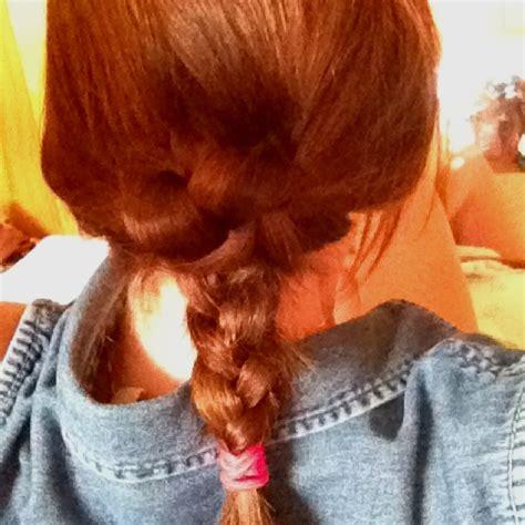 hairstyles with regular braids regular braid split at neck open and flip braid through