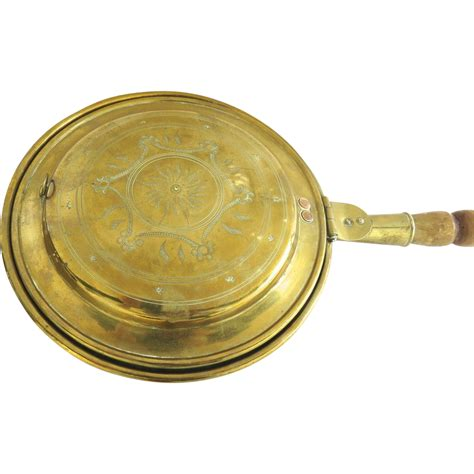 brass bed denver english brass bed warmer with pierced lid from blacktulip on ruby lane