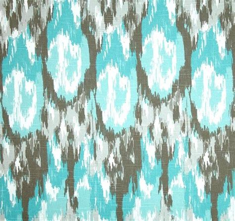 ikat home decor contemporary brown blue home decor fabric by the yard