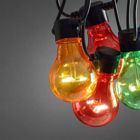 multi coloured circus festoon lights by lights4fun