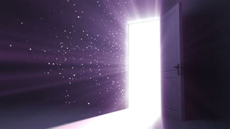 Doors Light by Door Opening To A Heaven Light Flares Flying Hd 1080