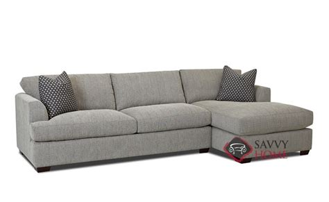 chaise queen sleeper sectional sofa berkeley fabric chaise sectional by savvy is fully