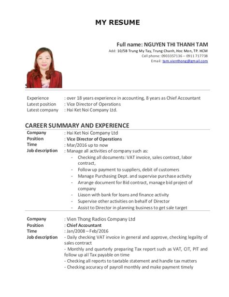 Update My Resume by Cv Chuan Update T6 16