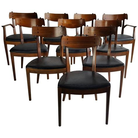 set of ten mid century dining chairs by kipp stewart for