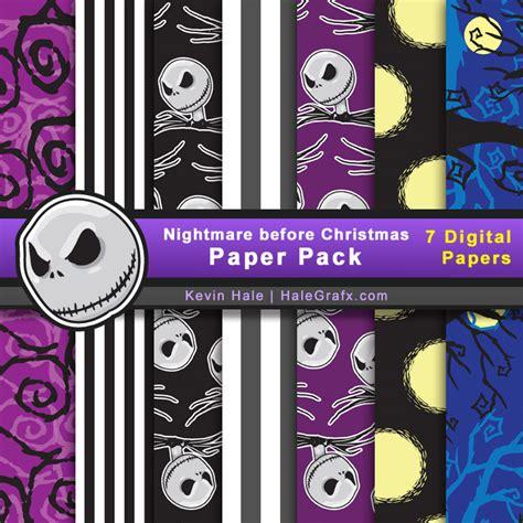 Nightmare Before Free - free nightmare before digital paper pack