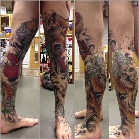 japanese tattoo leg designs 20 best images about pierna on japanese koi