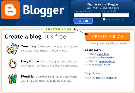 build blog panduan mendaftar google blogger tutorial blogger blogspot