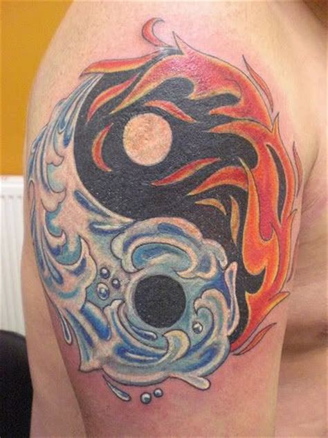 fire and water tattoo yin yang and photo by marbucketspace
