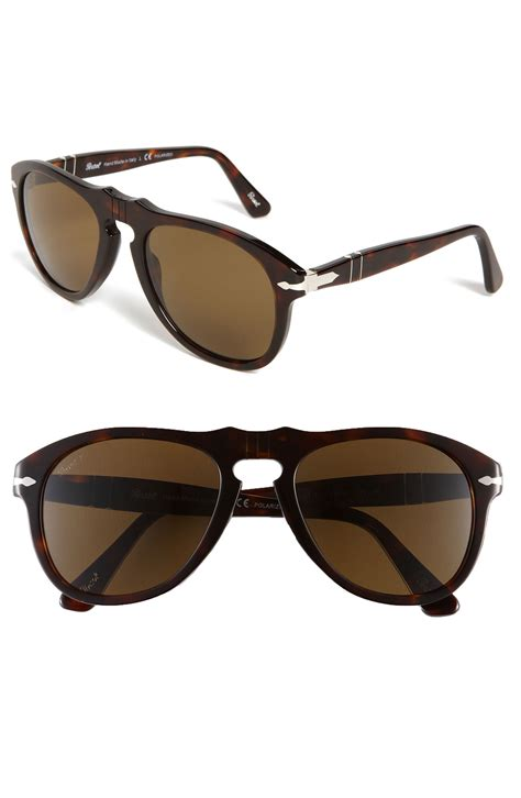 Keyhole Sunglasses by Persol Retro Keyhole Polarized Sunglasses In Brown For