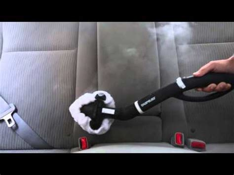how to clean car upholstery with a steam cleaner