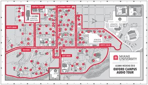 map of miami oxford miami cus tour podcast alma mater