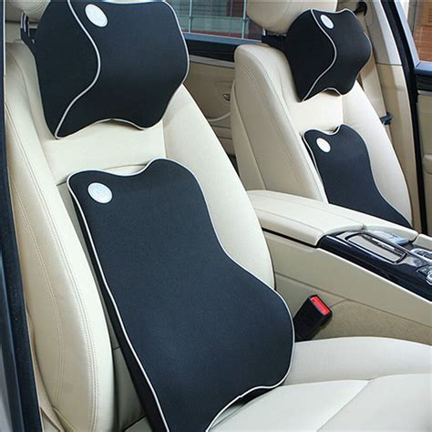 Pillow Car by Car Back Cushion Neck Pillow Kit Premium Memory Foam