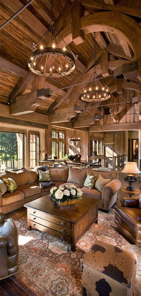 cabin decor rustic interiors and log cabin decorating ideas