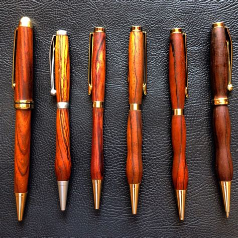 Handmade Wood Pens - made wooden pens carved per order as these are