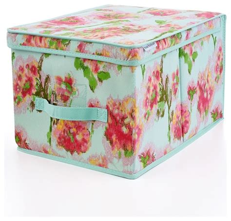 isaac mizrahi ikat floral large storage box contemporary