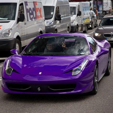 dark purple ferrari purple powered 458 cars pinterest cars ferrari and