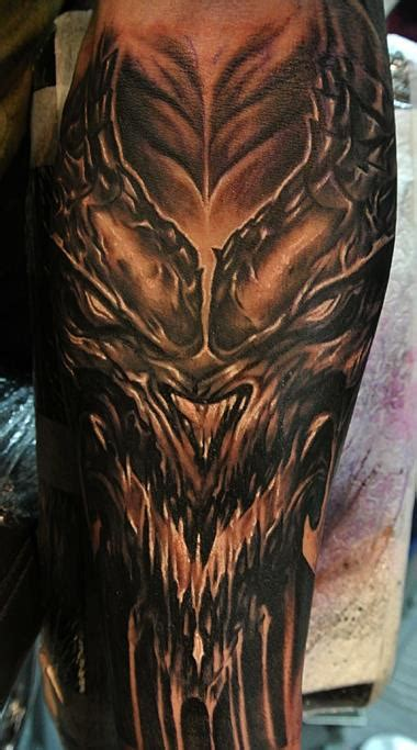 diablo tattoo diablo sleeve by cris sake crew