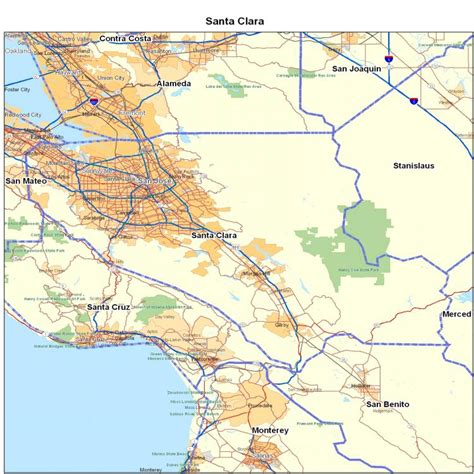 go section 8 santa clara county santa clara county ca california maps map of