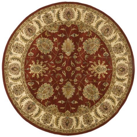 6x6 rug handmade wool traditional agra rug 6x6 168991 rugs at sportsman s guide