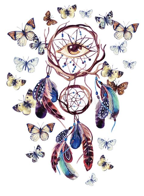 all seeing eye moth my watercolor ethnic catcher with all seeing eye stock